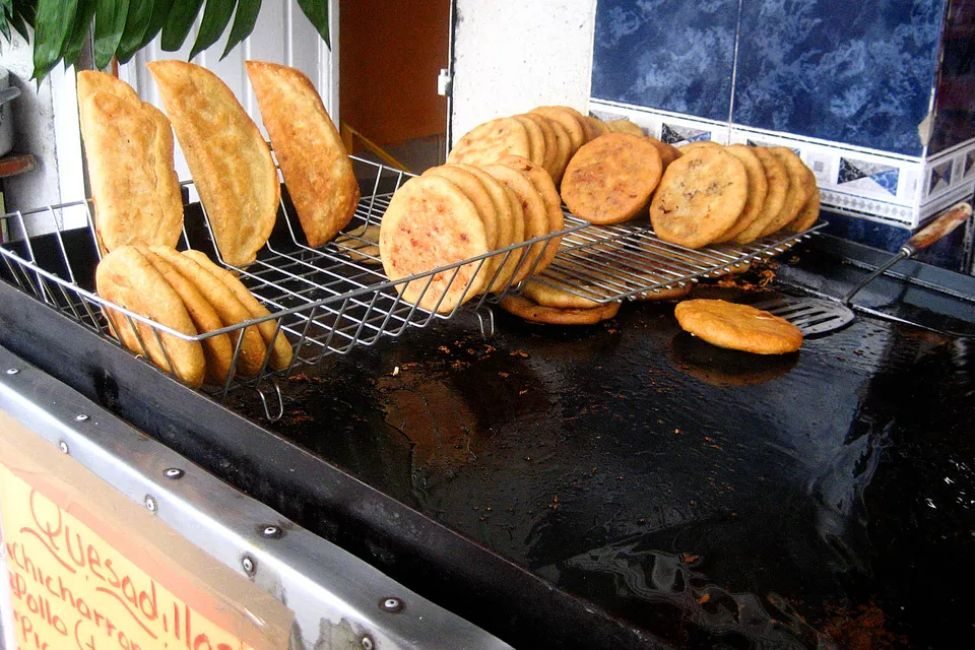 Traditional Fried Mexican Quesadillas