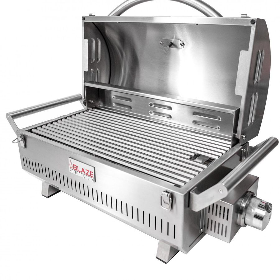 """16/"""" Portable Stainless Steel Tabletop Steak Cooker Camp Tailgate Outdoor Cooking"""