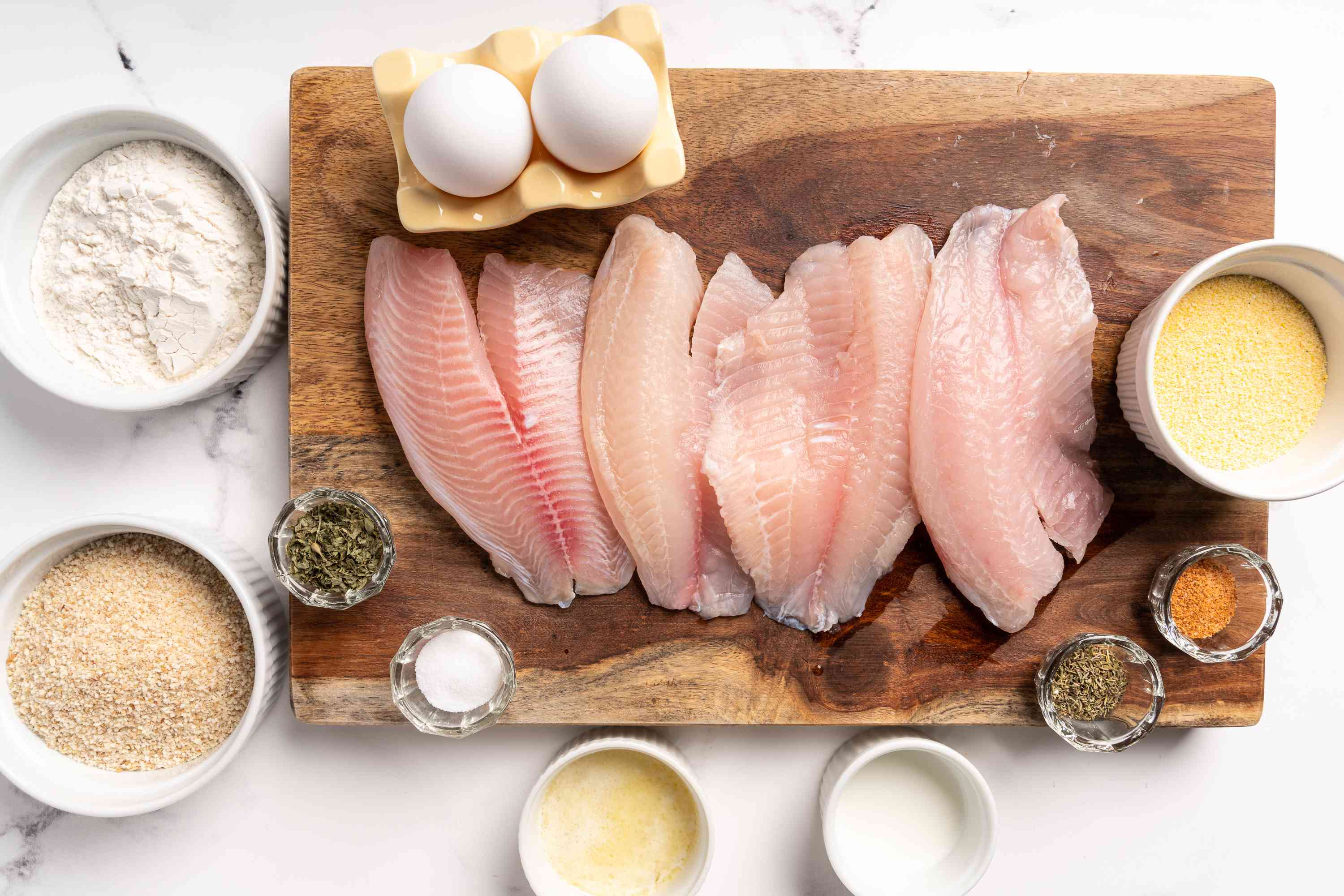 Simple Oven-Fried Tilapia ingredients