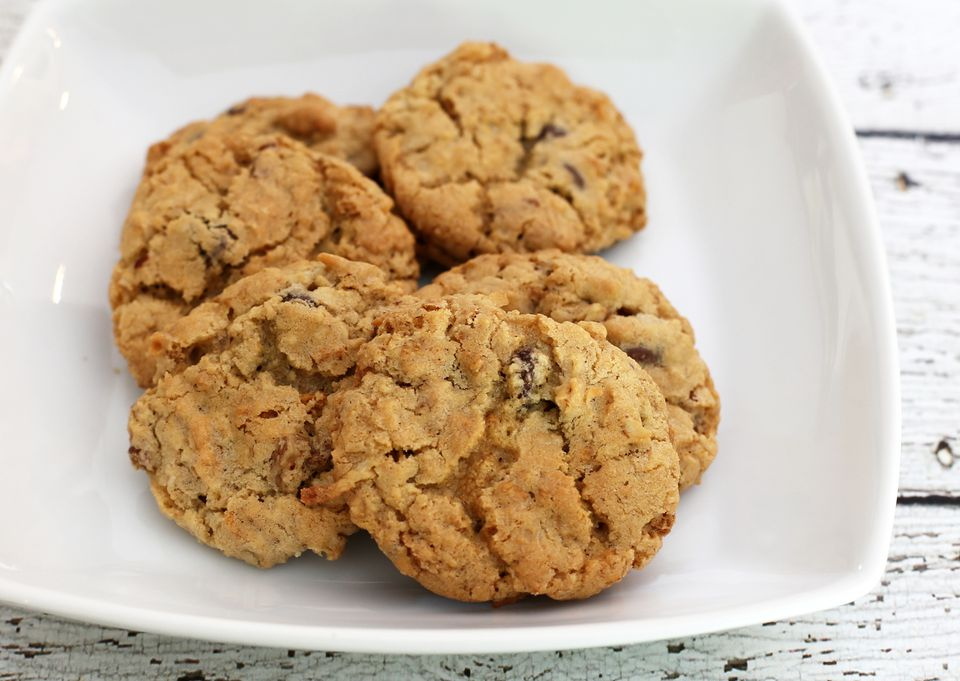 All-American ranger cookies with oats, corn flakes, and coconut
