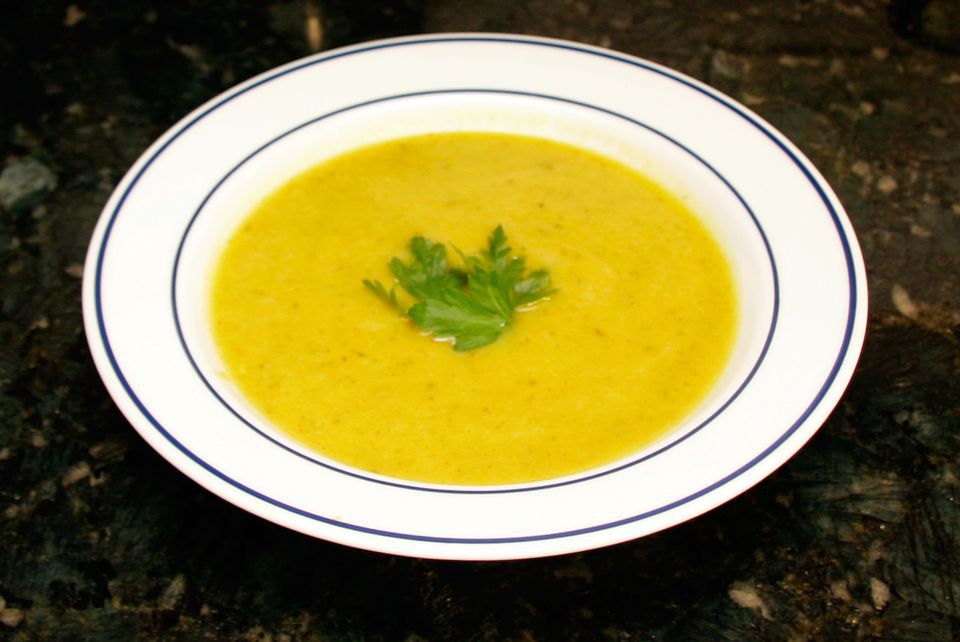 Light Curried Zucchini Soup