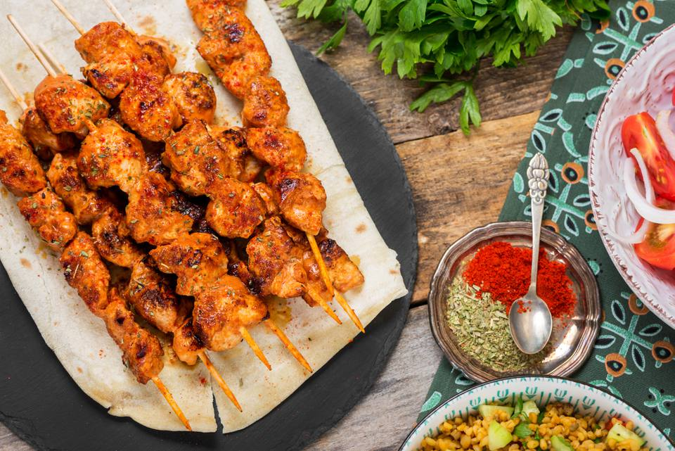 Basic turkish chicken kabobs