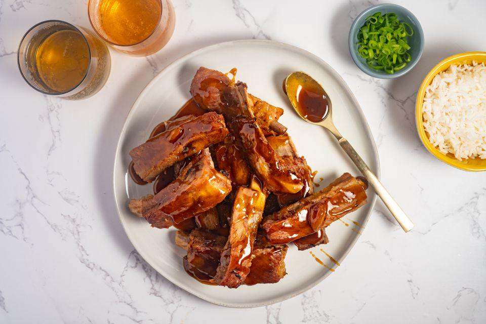 Chinese Dry Garlic Spareribs