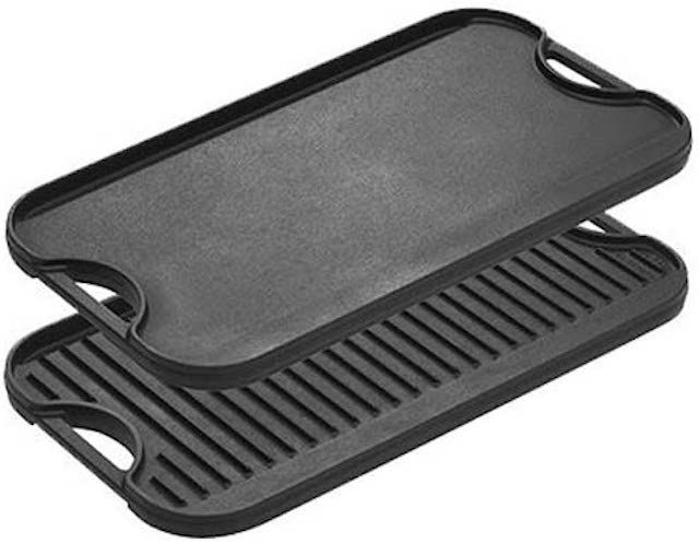 Lodge Pre-Seasoned Cast Iron Reversible Grill/Griddle With Handles