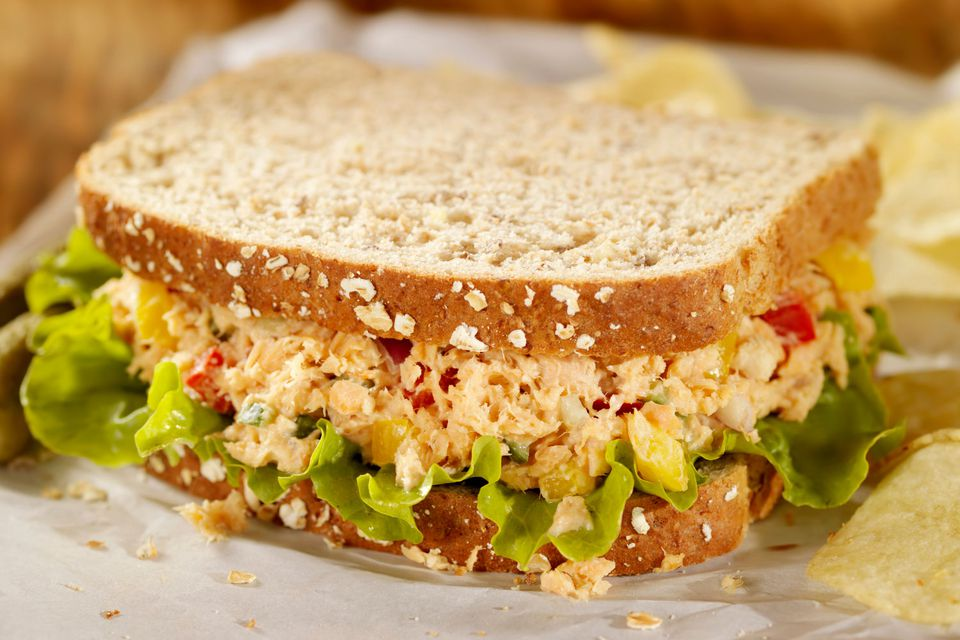 Salmon cucumber sandwich