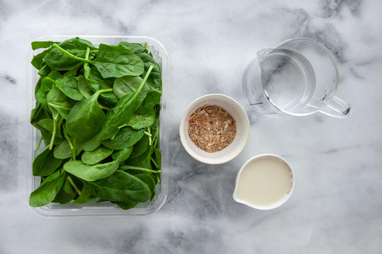Vegan Creamed Spinach ingredients