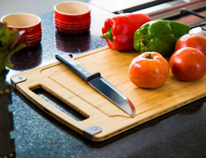 Close-Up Of Vegetables On Chopping Board
