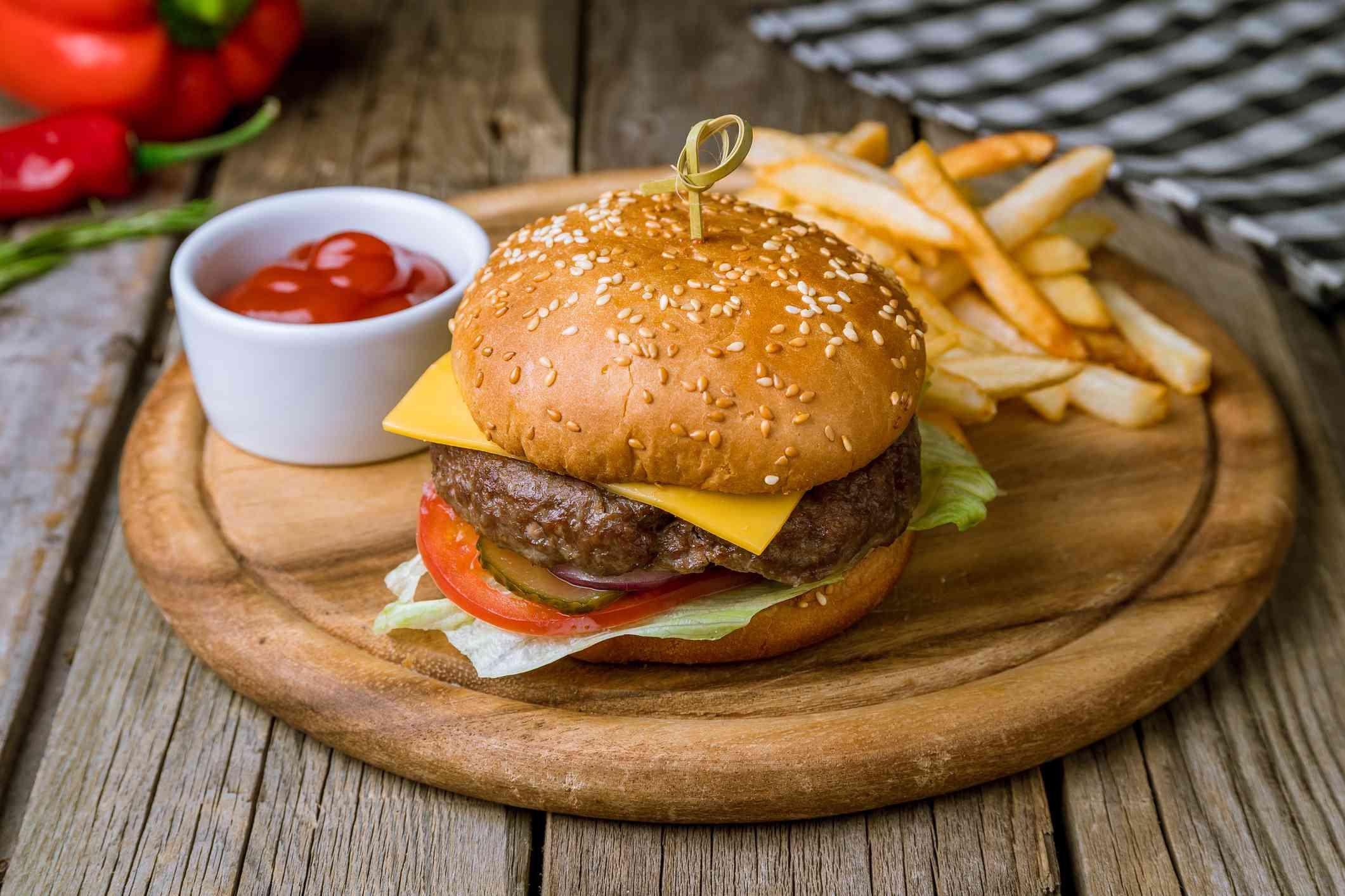 Hamburger in a bun
