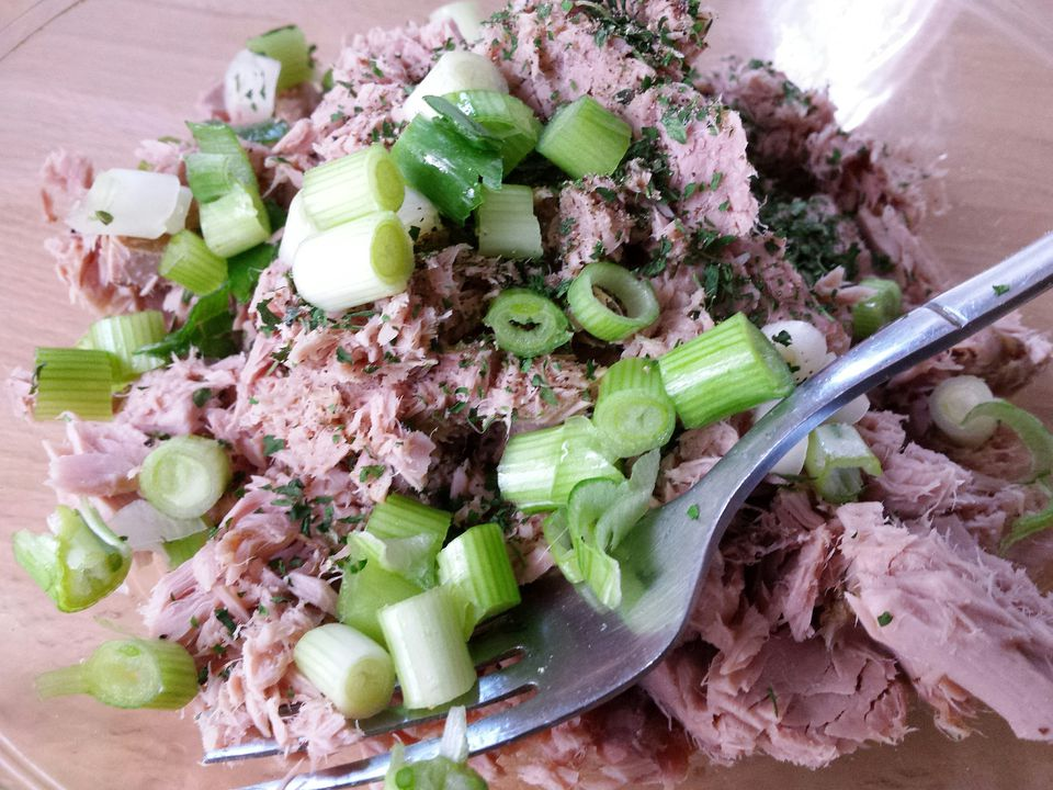 Close-Up Of Tuna Salad