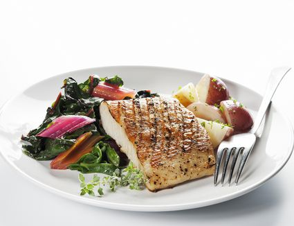Grilled Honey-Mustard Sea Bass