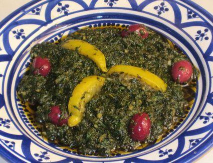 Moroccan Mallow Salad (Khoubiza or Bakoula)