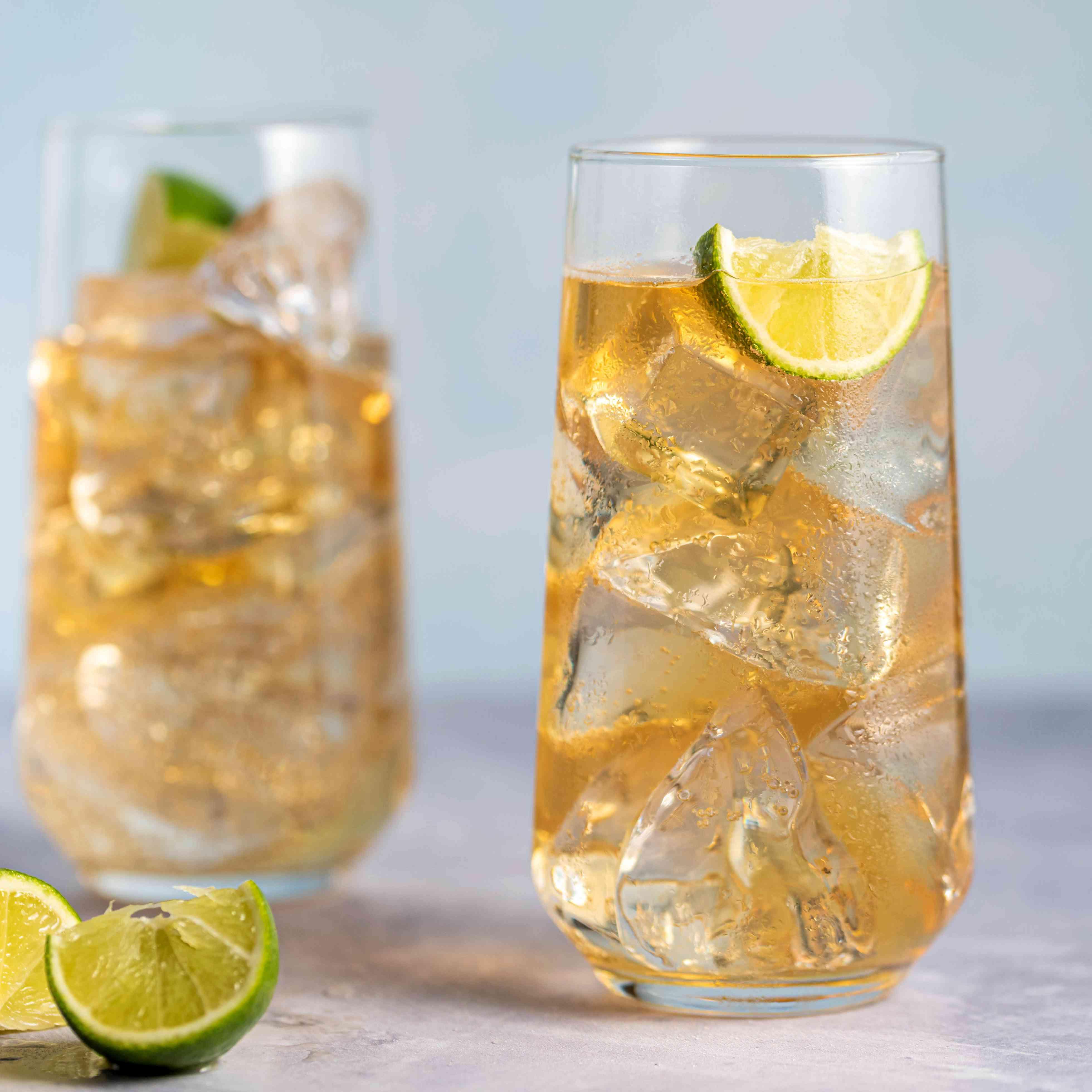 Irish whiskey and ginger ale