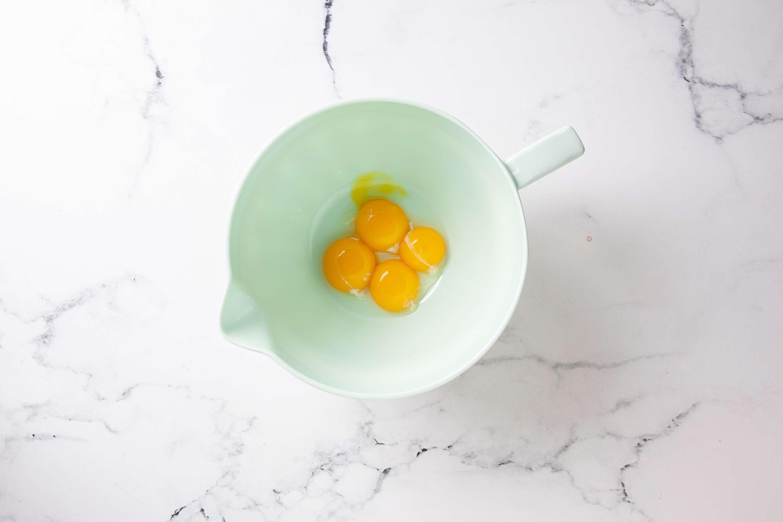 Beat the egg yolks