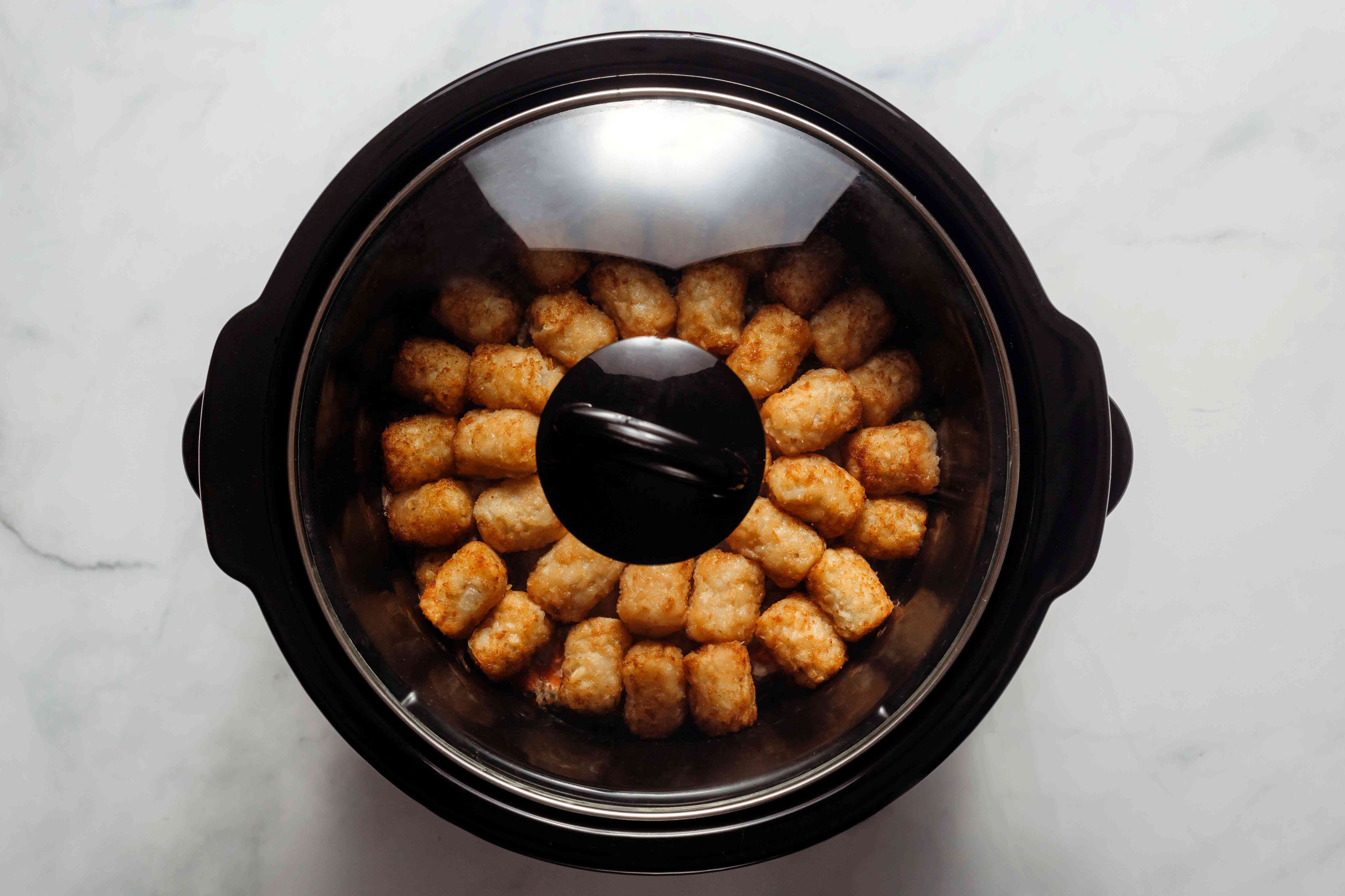 Tater Tot Casserole in a Slow Cooker