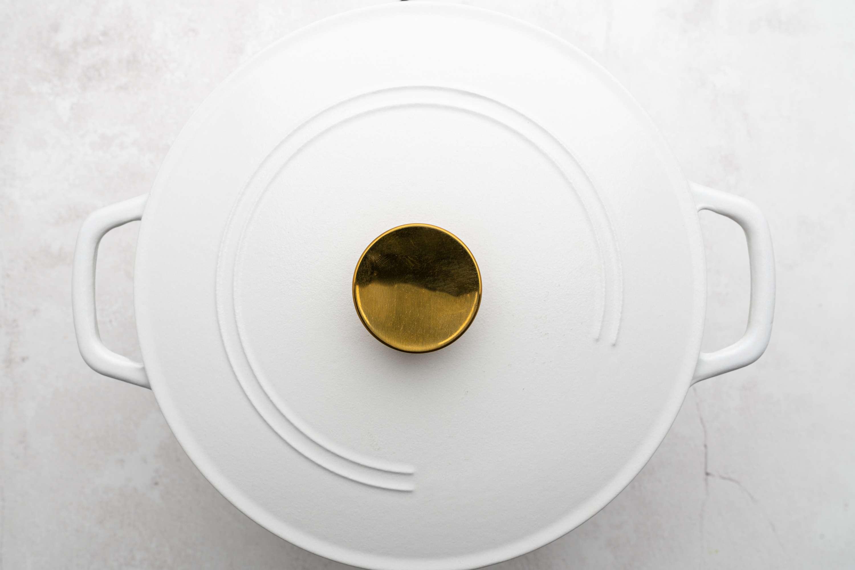 Bund Gobhi/ Patta Gobhi Ki Subji (Stir Fry Cabbage) in a covered pot