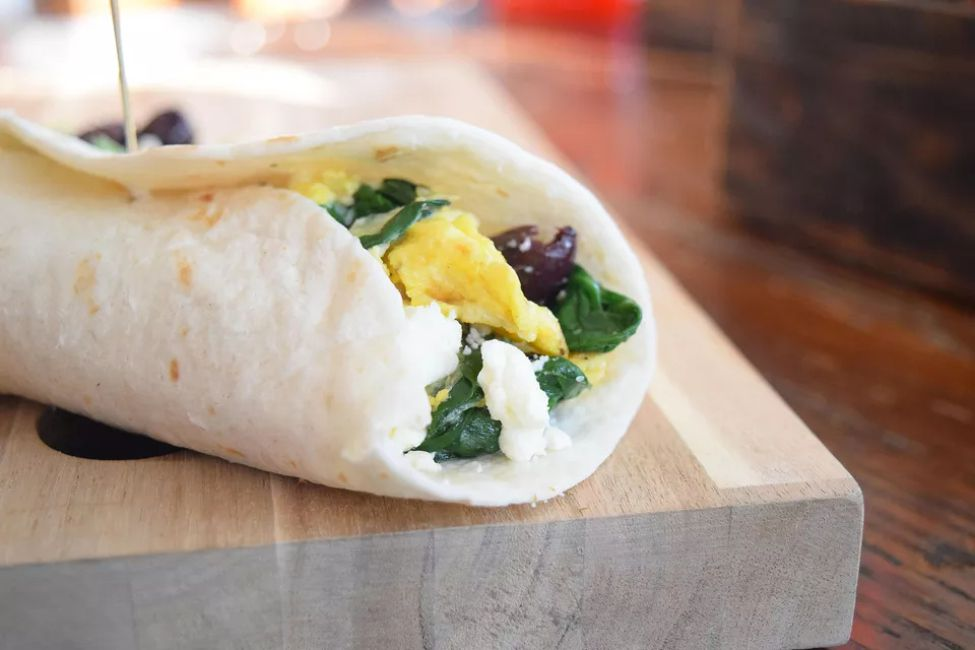 Spinach and feta wreakfast Wrap