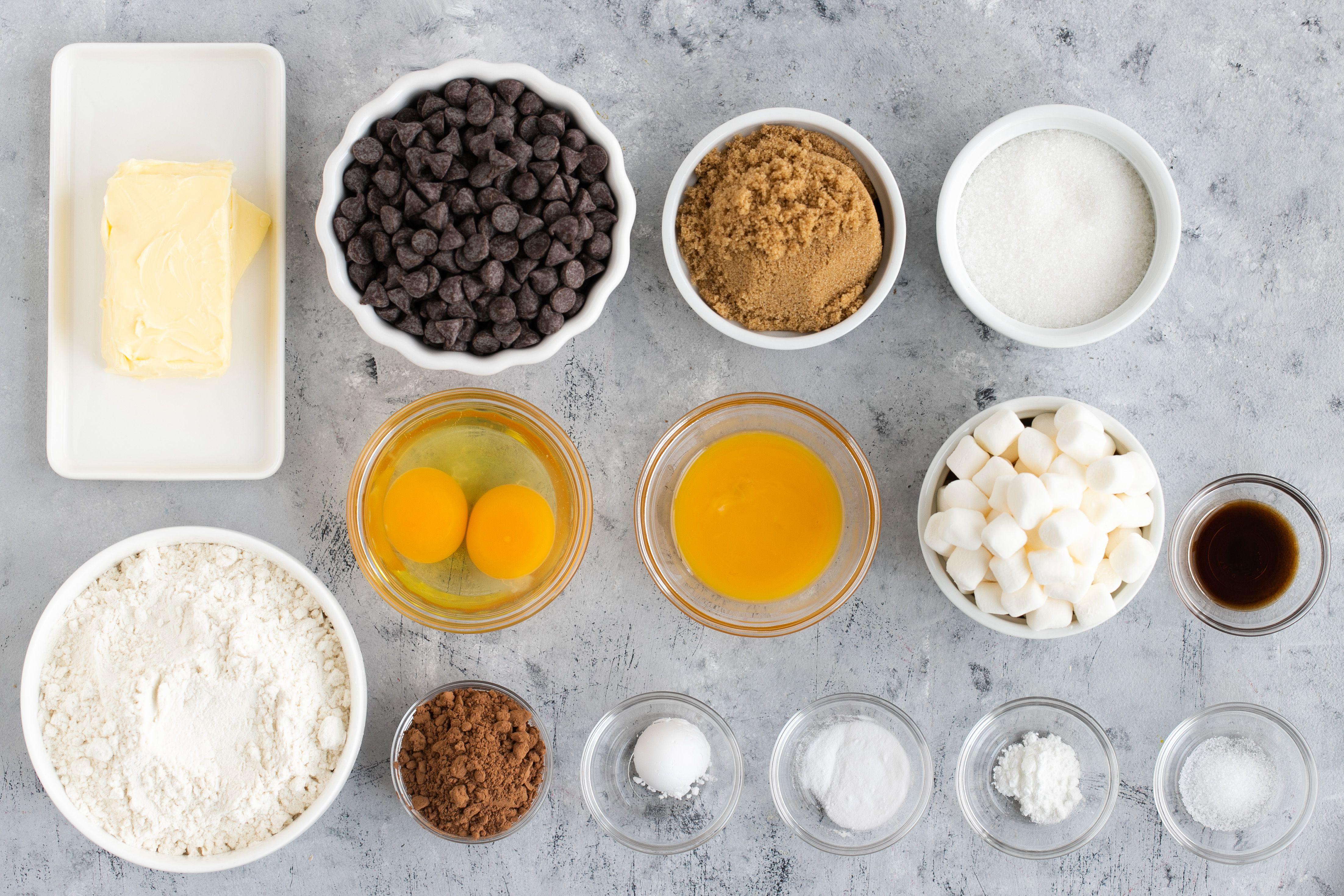 Spiderweb Cookies Recipe ingredients