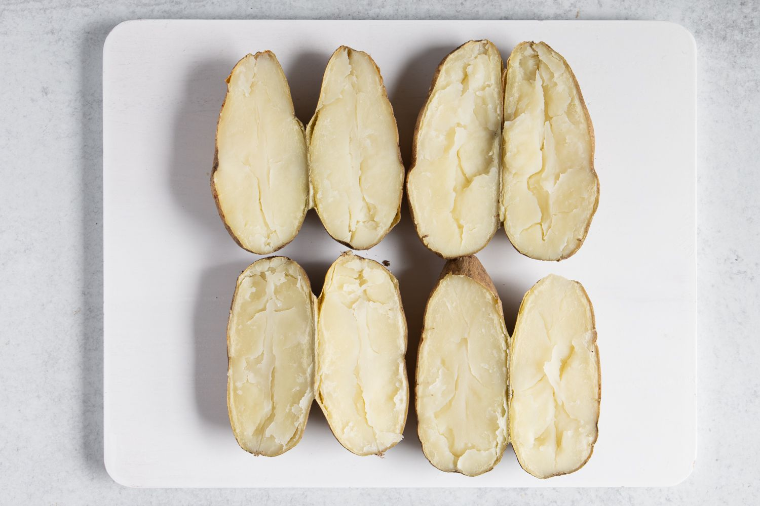 potatoes cut in half lengthwise