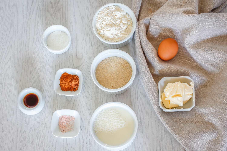 Basic muffin ingredients