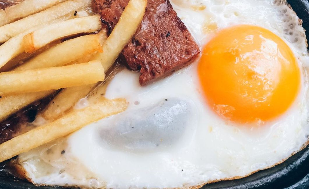 Steak and Potatoes With Fried Eggs
