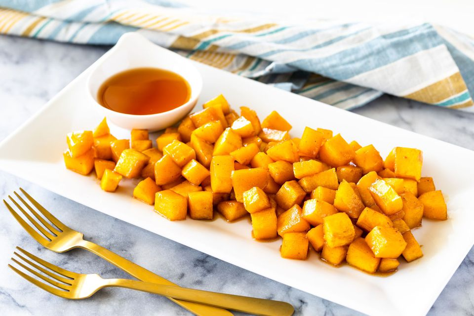 Baked Maple and Brown Sugar Butternut Squash