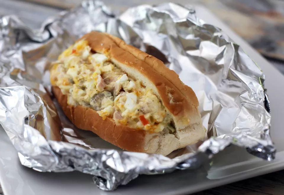 Hot Tuna and Egg Salad Rolls