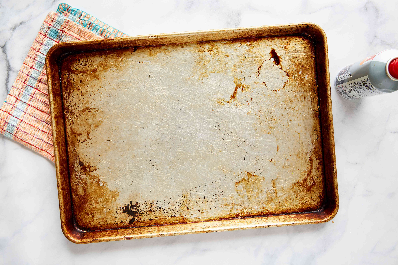 Grease baking sheet