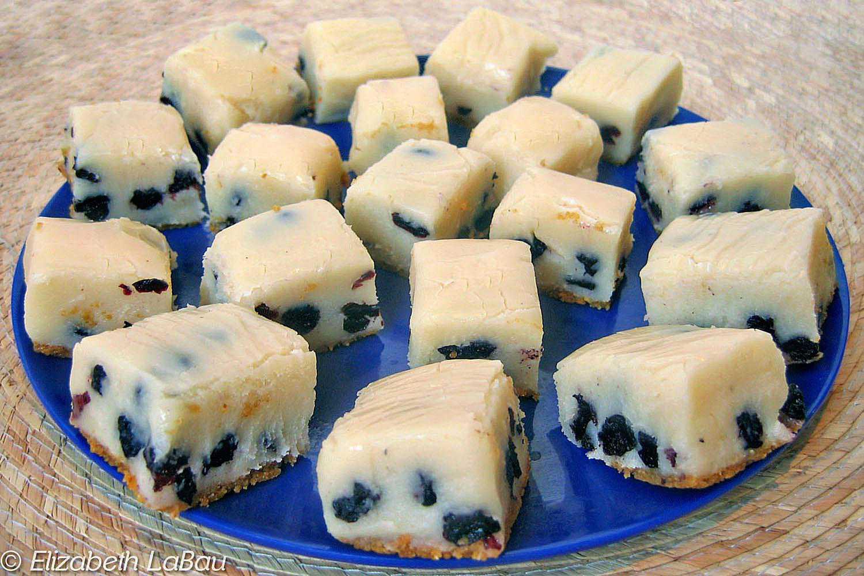 Blueberry Cheesecake Fudge