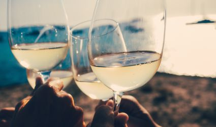 White Wine on the Beach