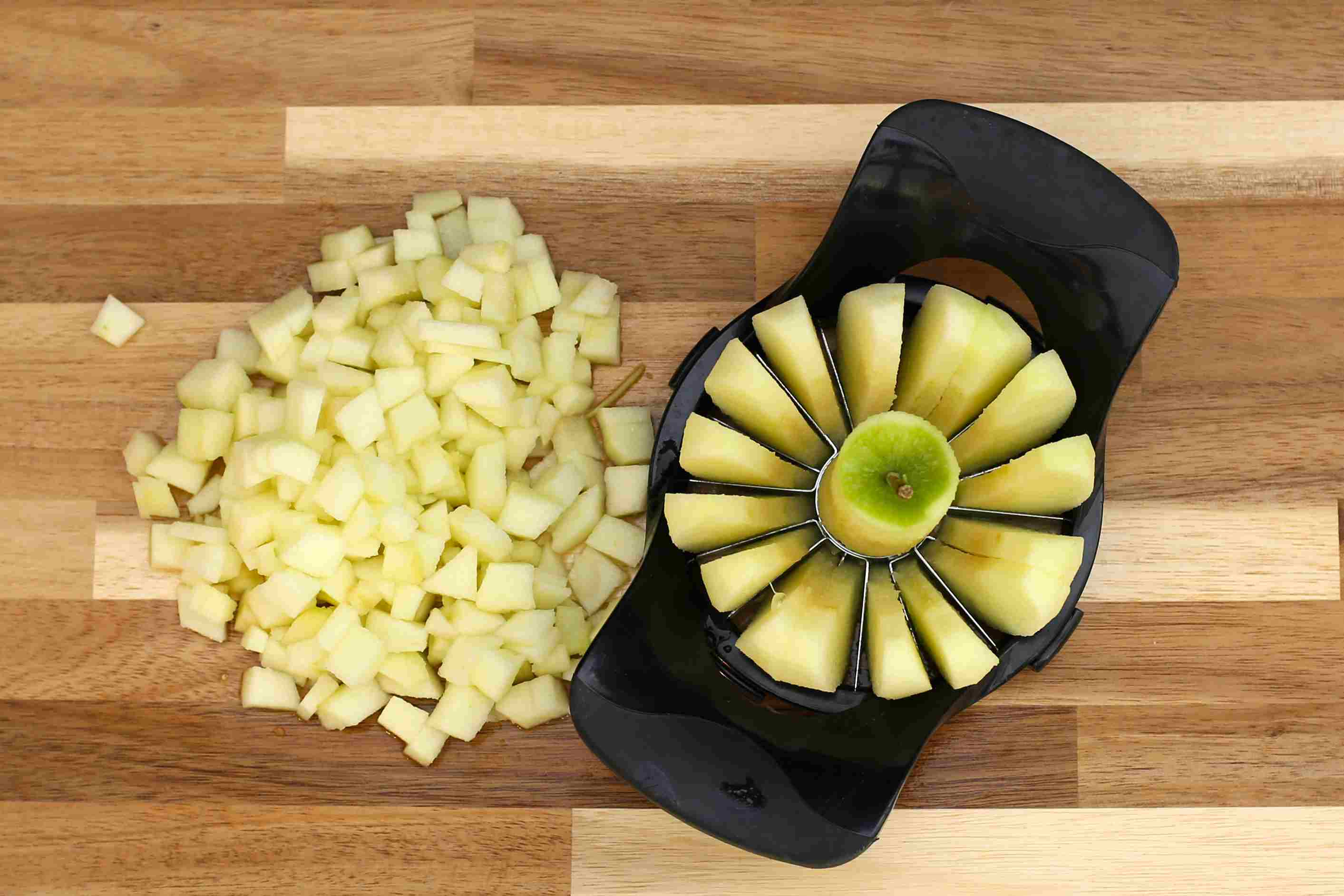peel, core, and slice the apples