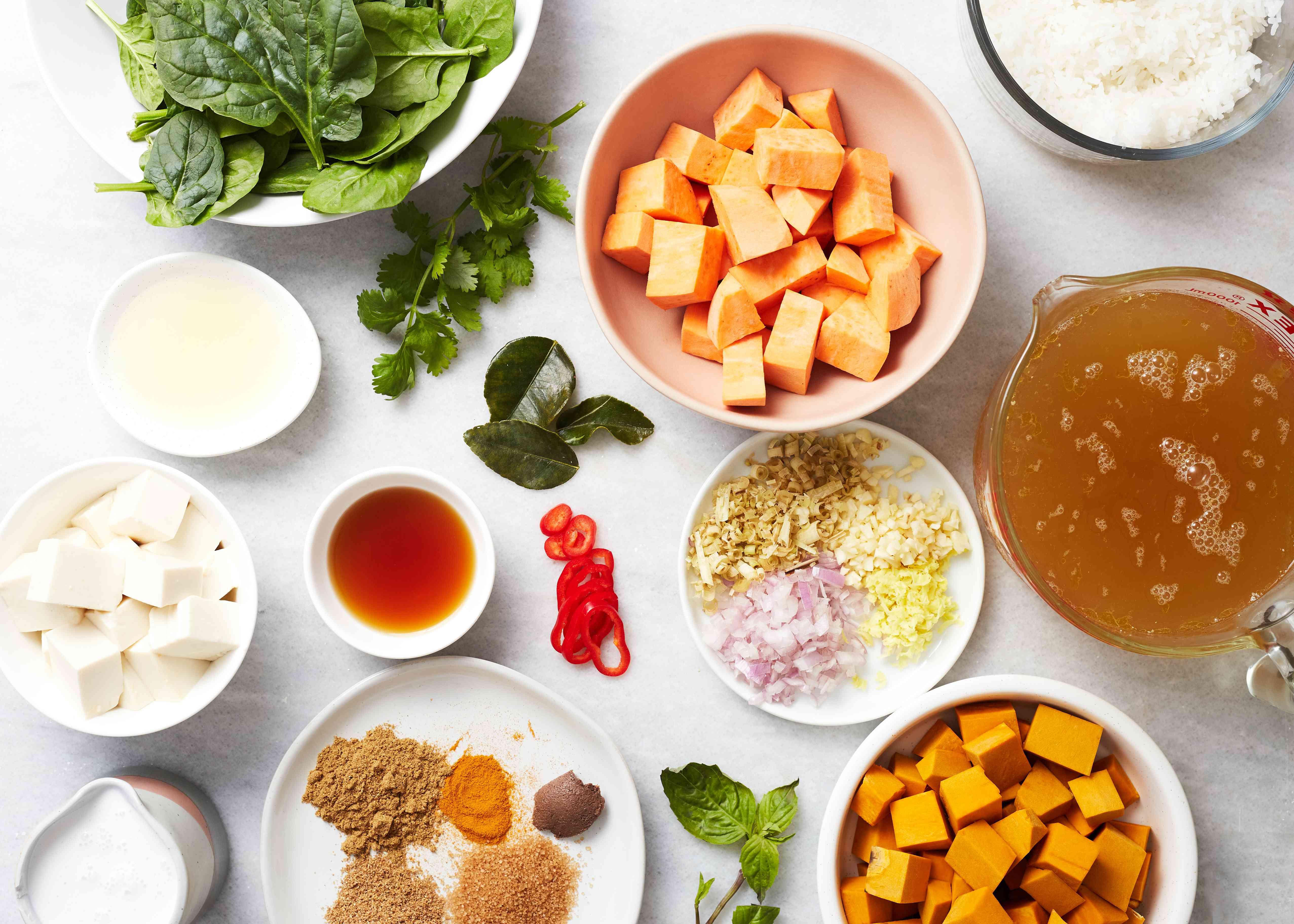 Thai Pumpkin Coconut Soup ingredients