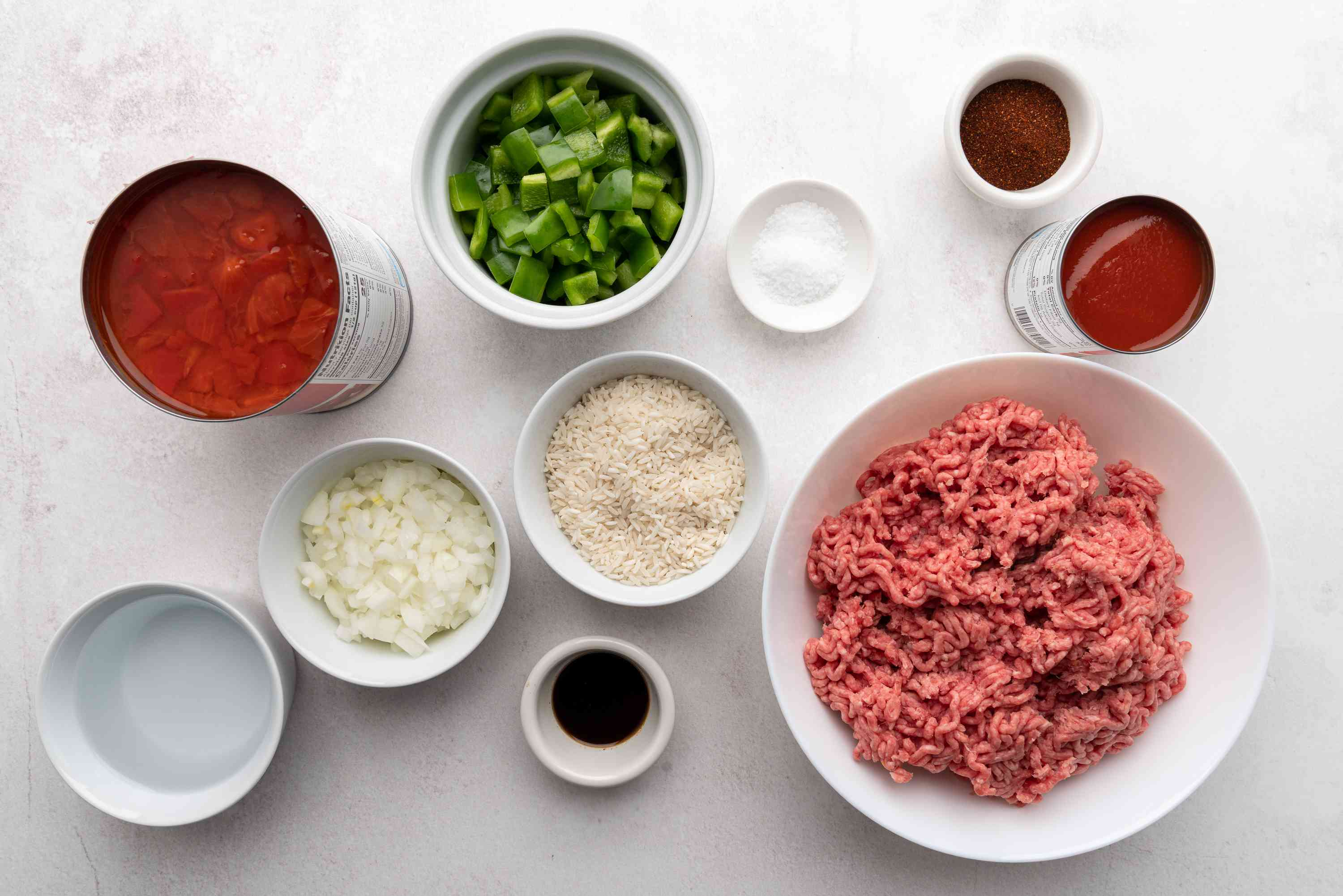 Crock Pot Spanish Rice With Ground Beef ingredients