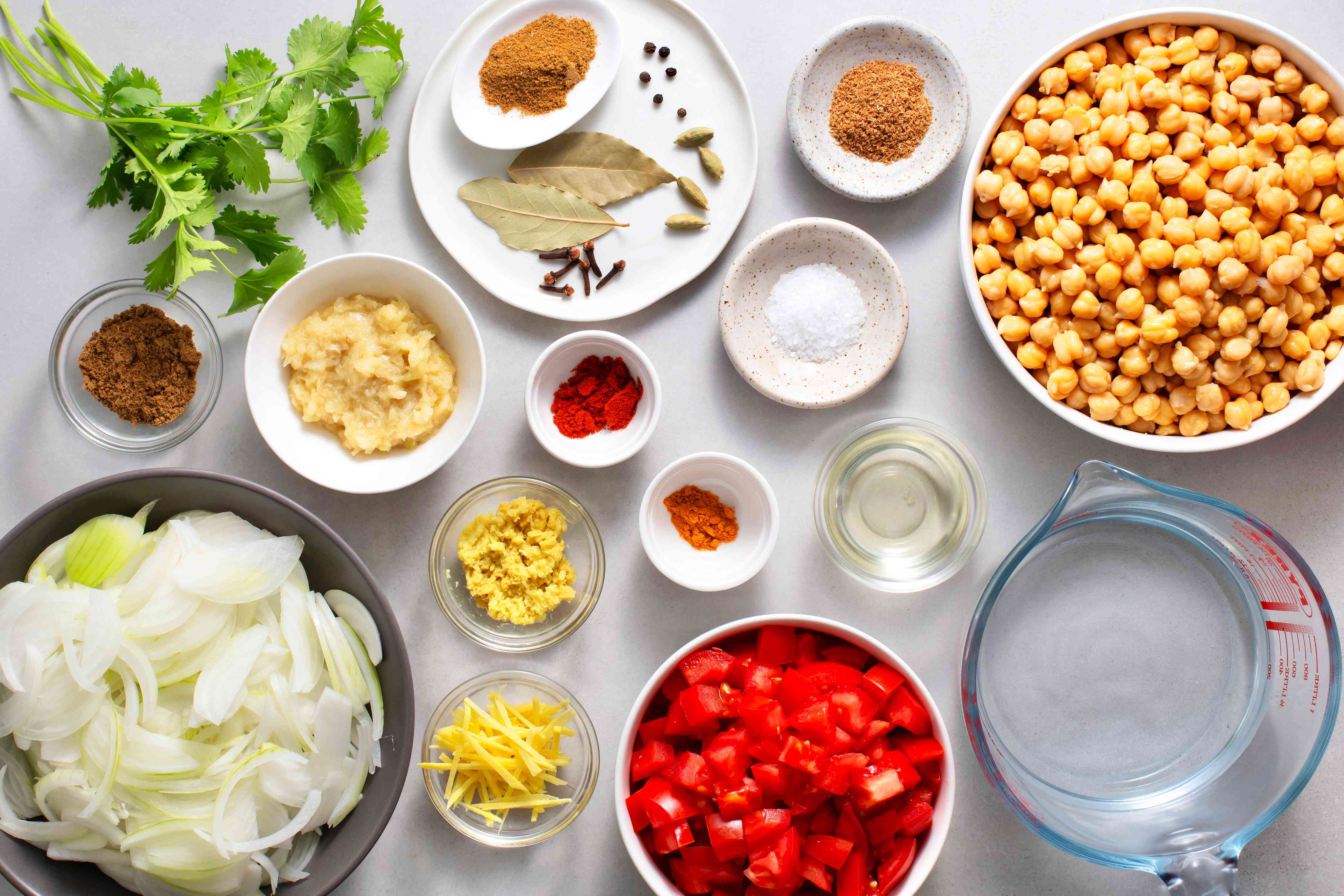 Chole chickpea curry recipe ingredients
