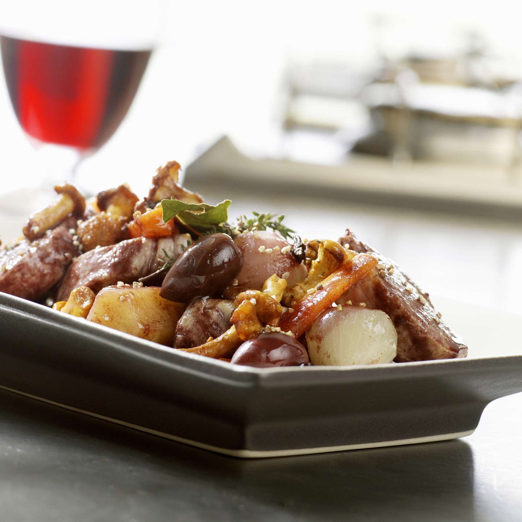 Root Vegetables Braised with Meat