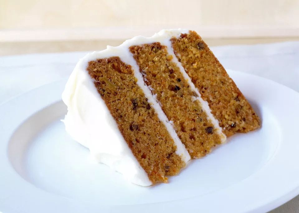 Three-layer apple butter cake