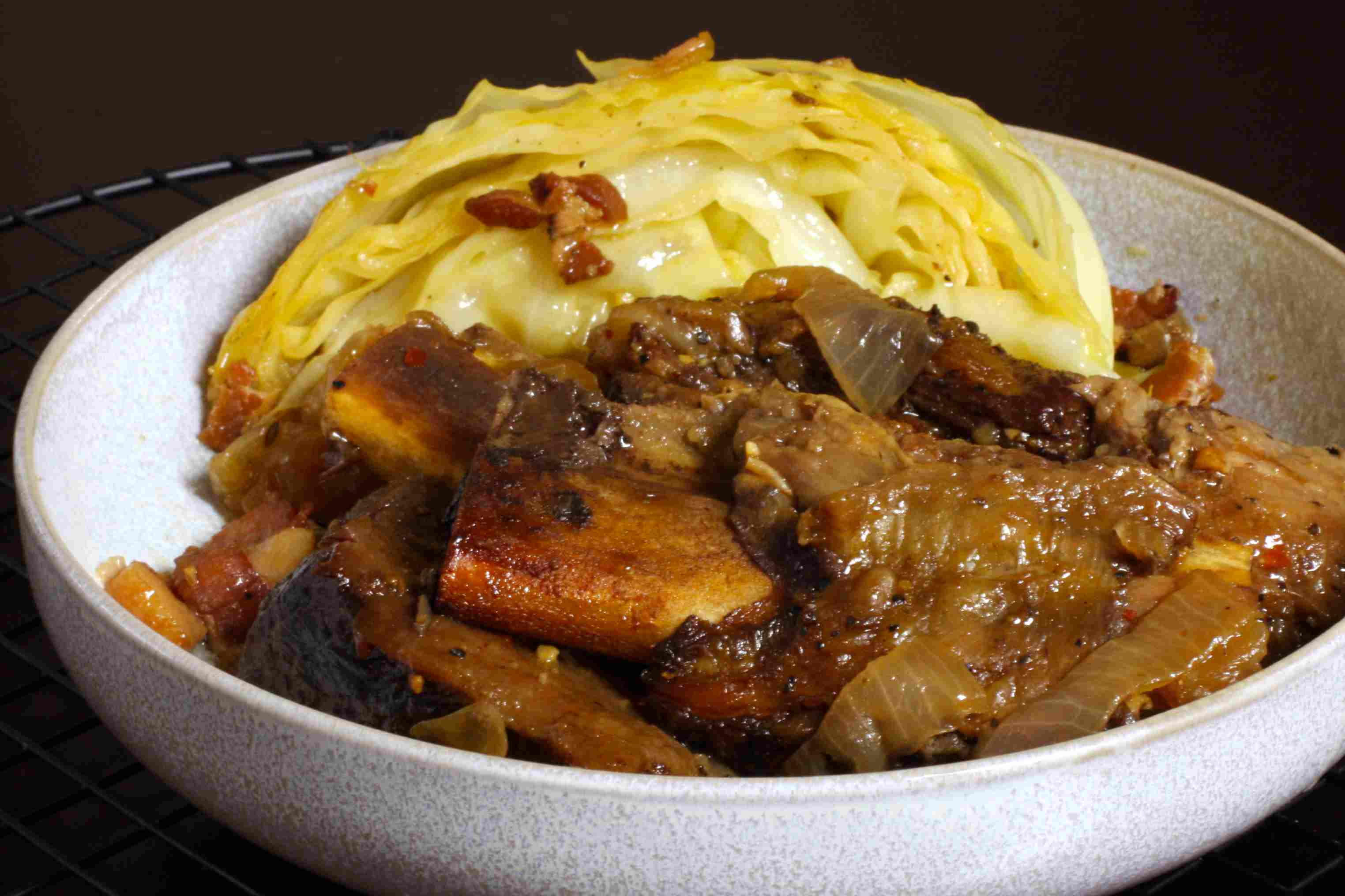 short ribs with cabbage