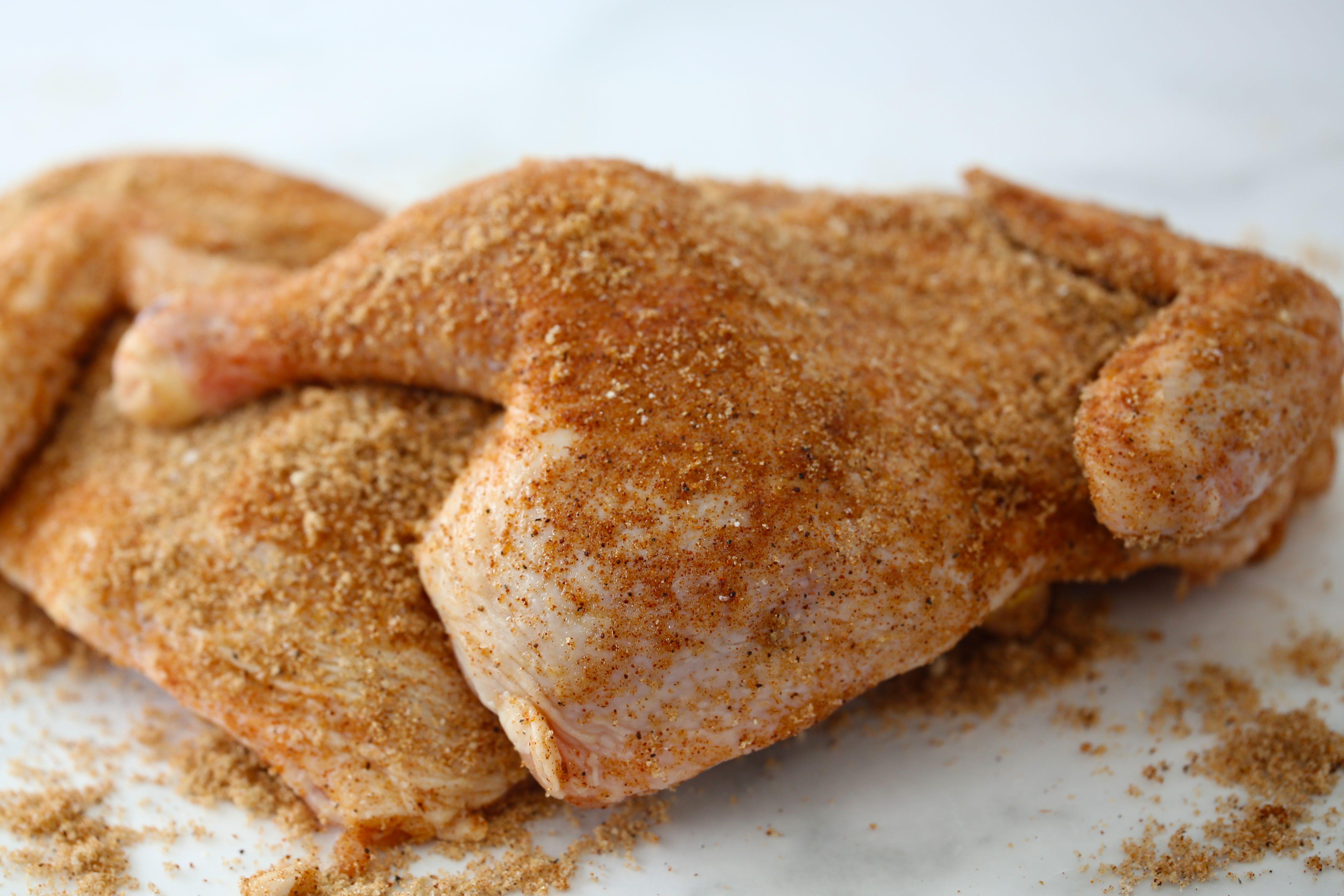 Seasoned chicken pieces for Instant Pot bbq chicken.