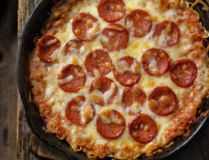 Ramen Noodle Crust Pepperoni Pizza