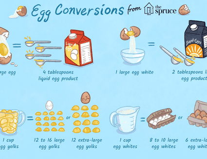 illustration featuring egg conversions