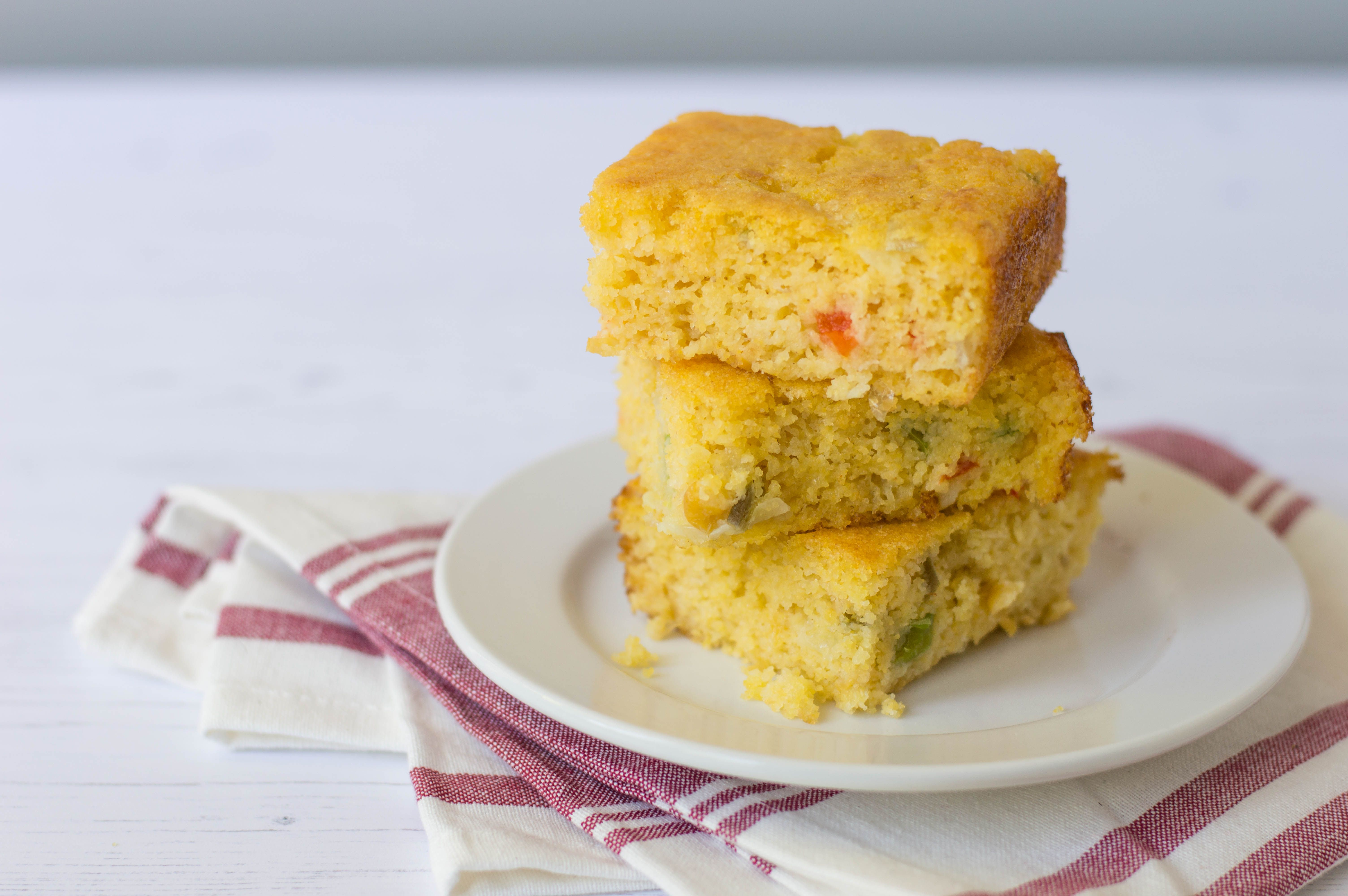 Mexican Cornbread With Cream Style Corn and Peppers