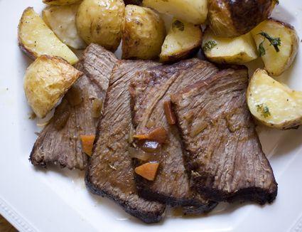 Brisket and potatoes