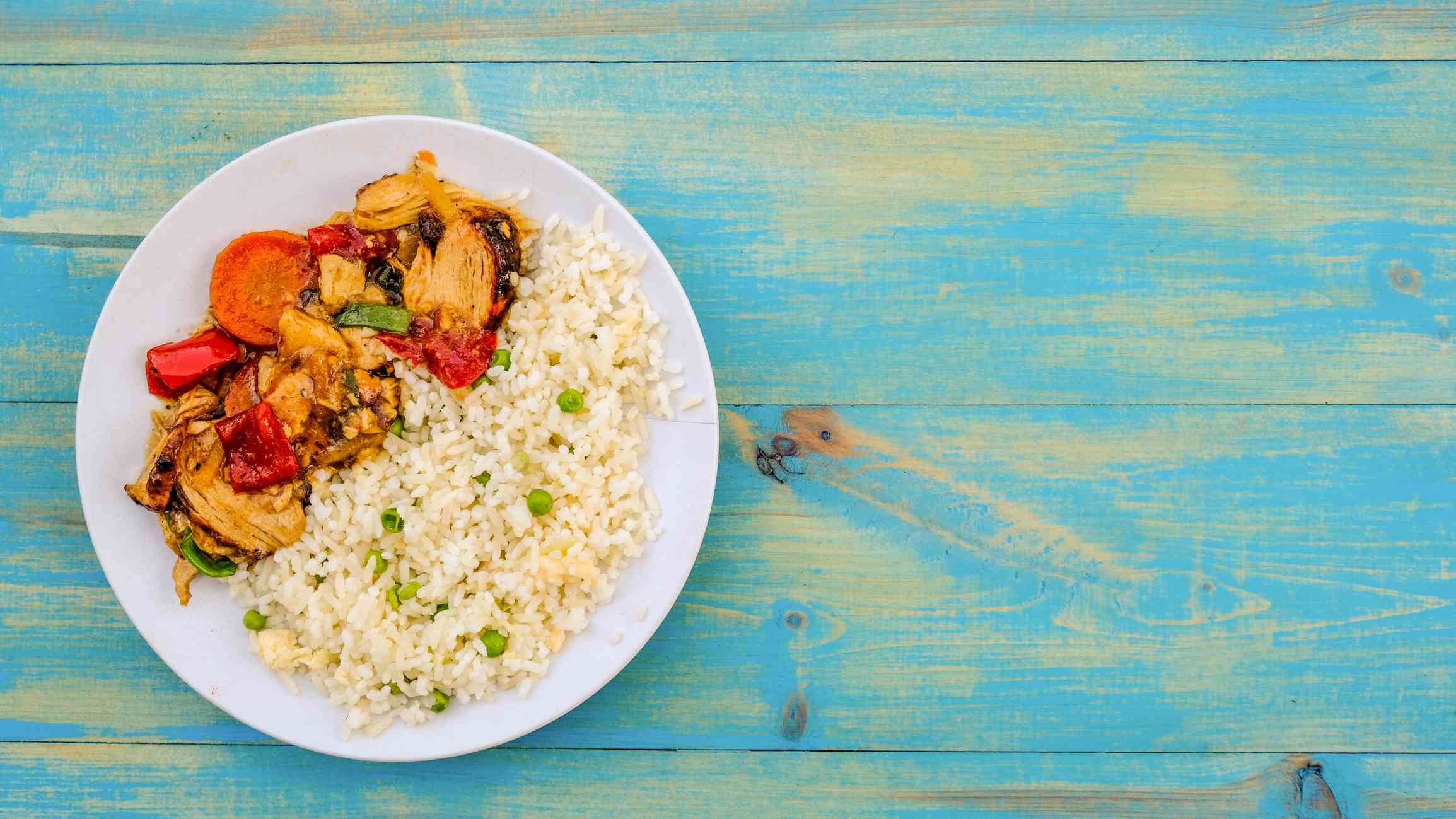Chicken stir-dfry with bell peppers