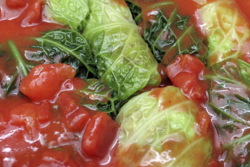 Cabbage Rolls in Tomatoes