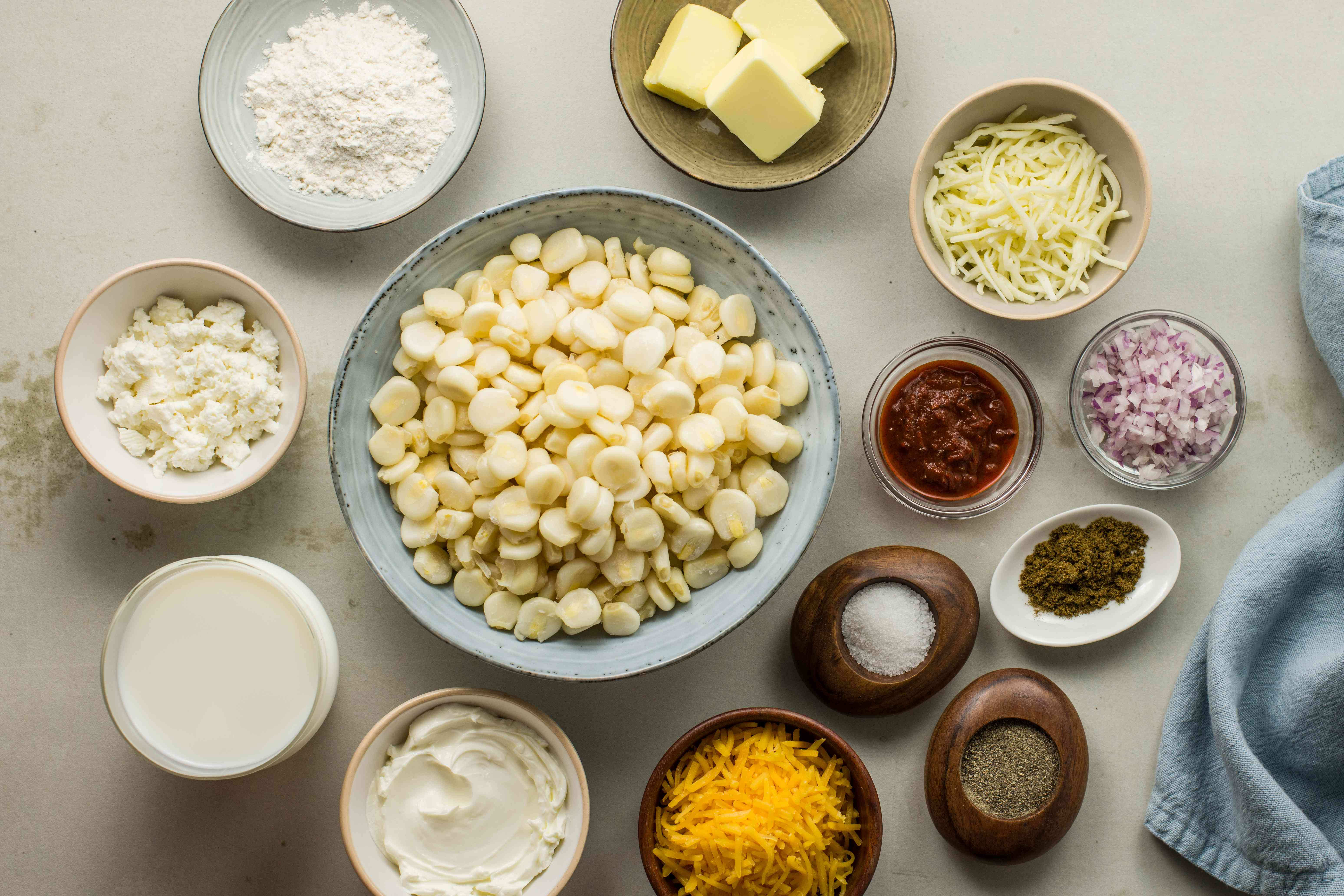 Ingredients for choclo con queso