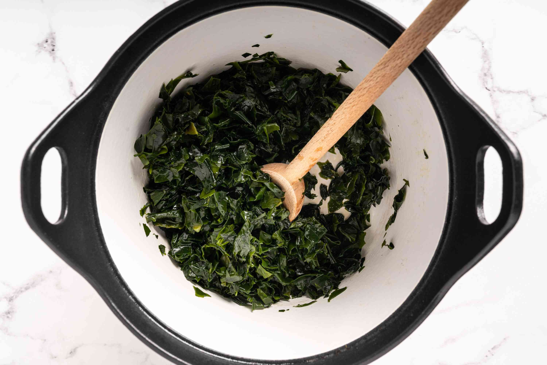 sauté the seaweed in sesame oil