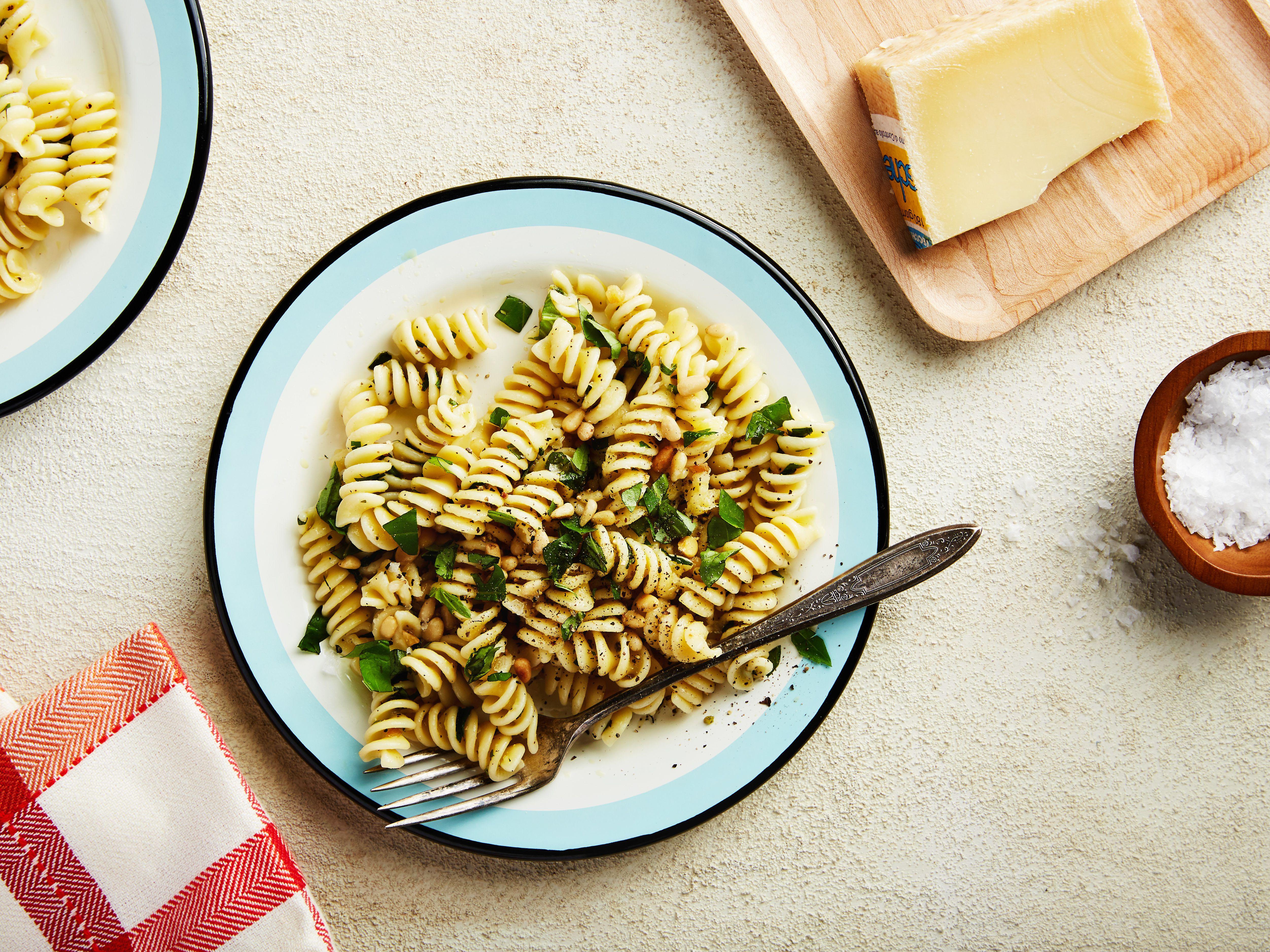 Easy Pasta Salad With Fresh Herbs Lemon And Garlic Recipe