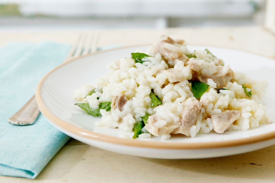 10 recipes with chicken stock or broth a plate of chicken risotto forumfinder Image collections