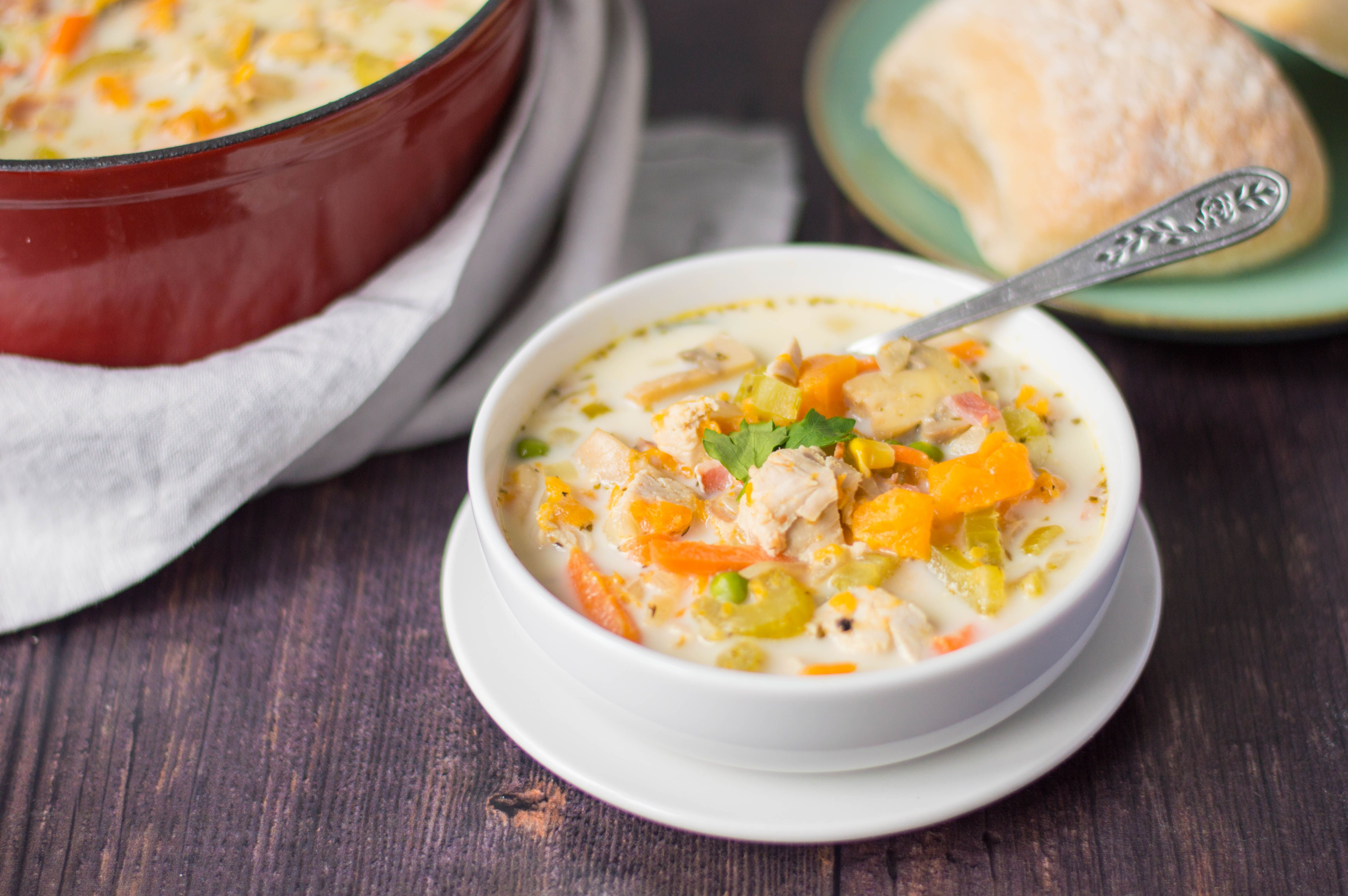 Turkey and sweet potato soup