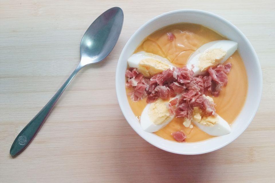 sopa de tomate fría cremosa española