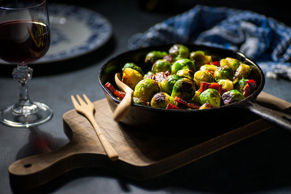 roasted brussels sprouts with pork